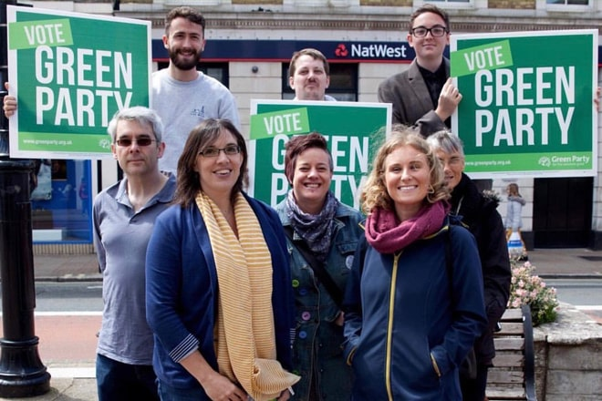 Local Greens with former South East MEP, Alex Phillips